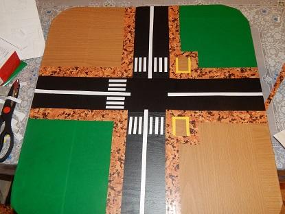 Рисунок перекресток со светофором
