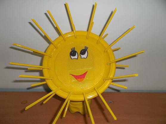Поделка солнышко в детский сад из одноразовой тарелке 94