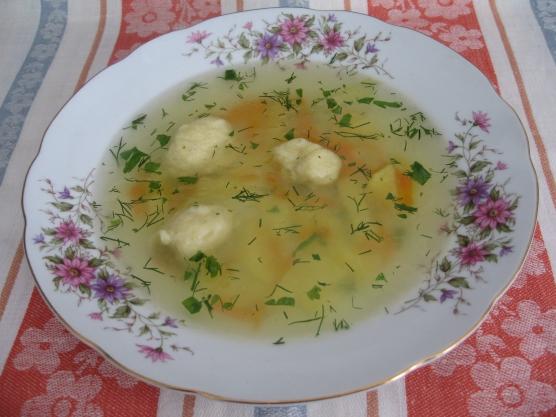 Как сделать суп из галушек рецепт 124