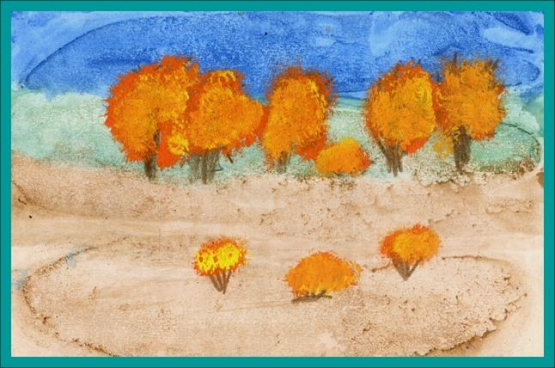 Как рисовать тычком картинки лета с дошкольниками