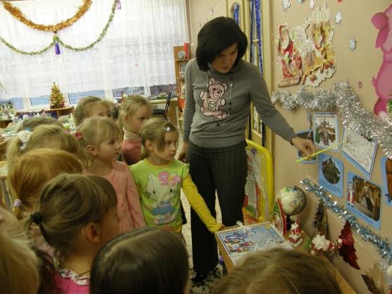 знакомство срусским бытом в детском саду