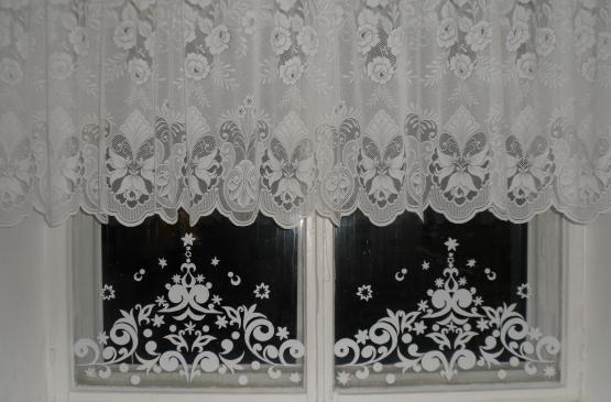 Морозный узор на окне своими руками