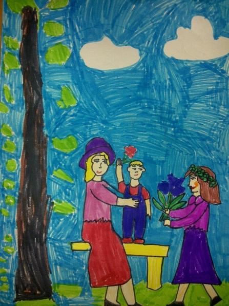 рисунков «Моя семья», в детском саду