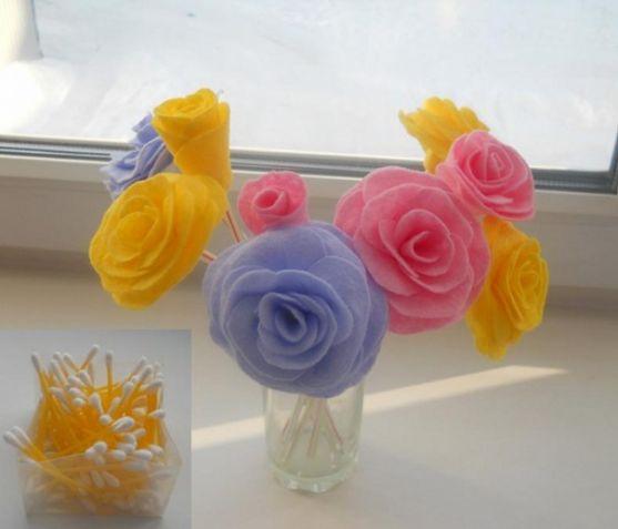 Как сделать розу из салфеток и трубочки