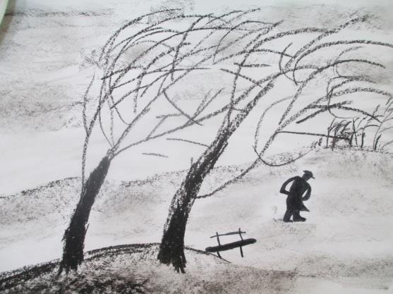 «Рисуем непогоду. Музыка ветра». Конспект НОД в старшей группе общеразвивающей направленности с применением ИКТ