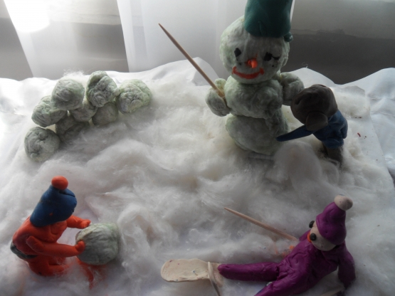 Зимние забавы своими руками на конкурс