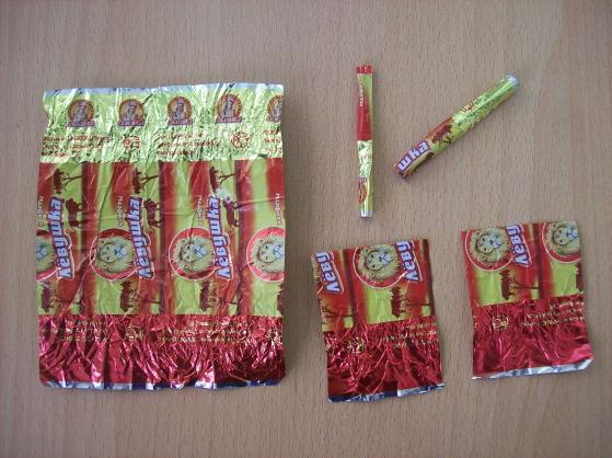 Гирлянда из фантиков от конфет схемы