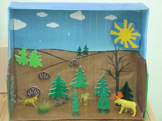 Поделки лес в детском саду