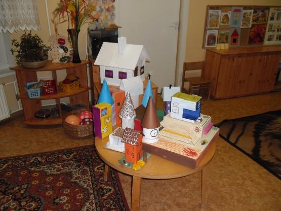 Поделка школьный дом