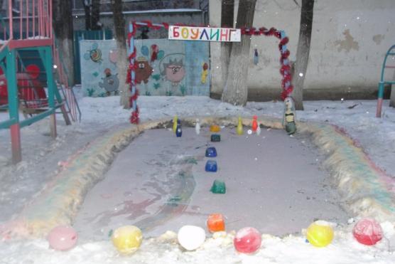 Постройки на площадке в детском саду