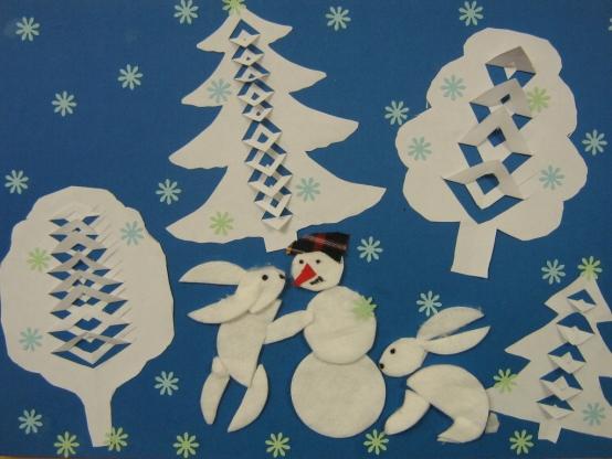 Открытки на новогоднюю тему своими руками в детский сад, лет открытка