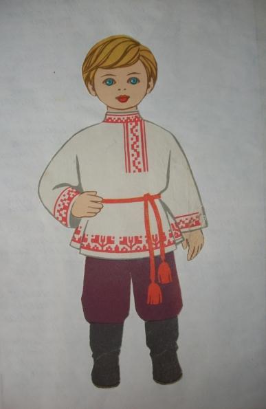 Детские рисунки русский народный костюм