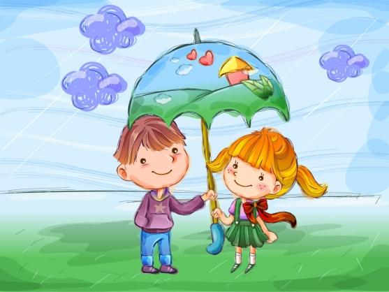 Рисунок на тему счастливый ребёнок