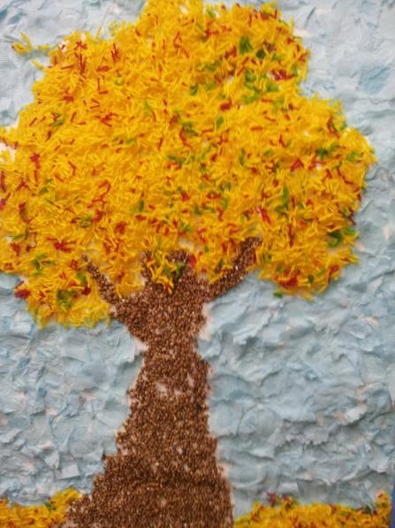 Занятие по аппликации на тему осеннее дерево