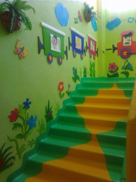 Оформление лестничного марша для детского сада своими руками