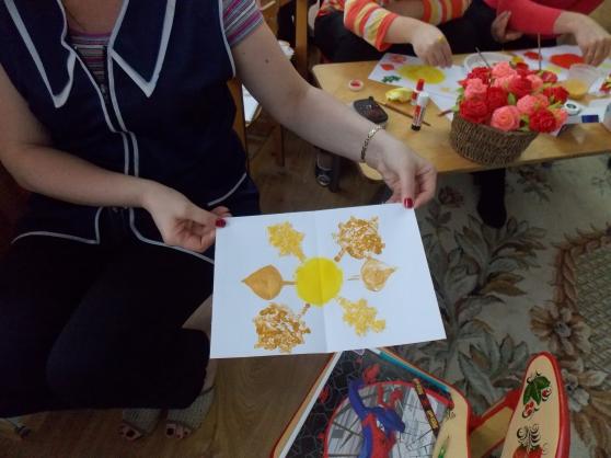 Картинки нетрадиционного рисования осень золотая
