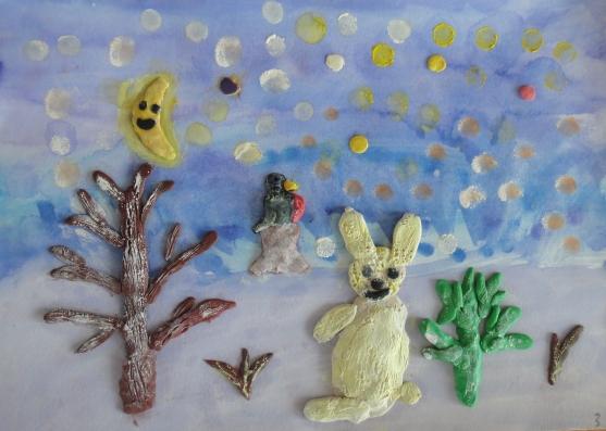Зимние поделки в детский сад из пластилина 47