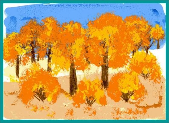 осенний лес рисунки: