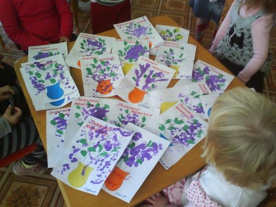 Младшая группа подарок маме своими руками
