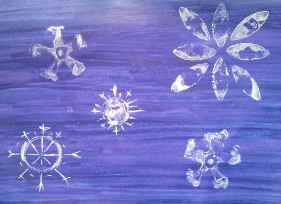 Нетрадиционные техники рисования.  «Рисуем зиму»