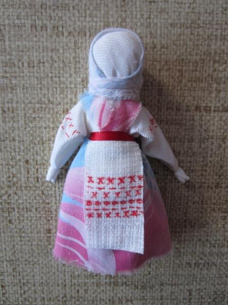 Кукла из тряпочек с детьми