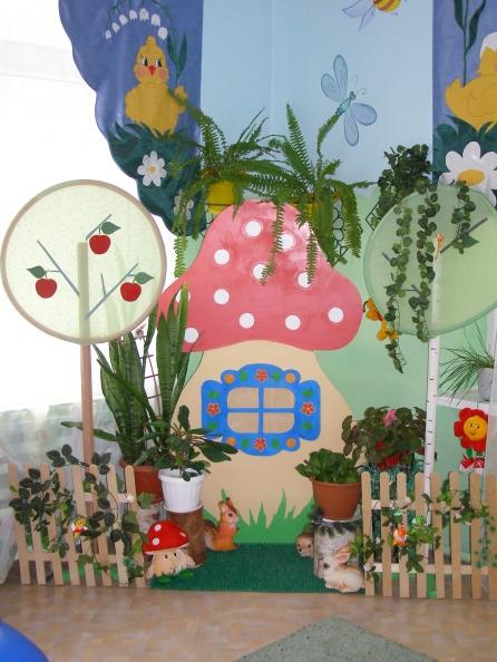 Как оформить красиво уголок природы в детском саду фото