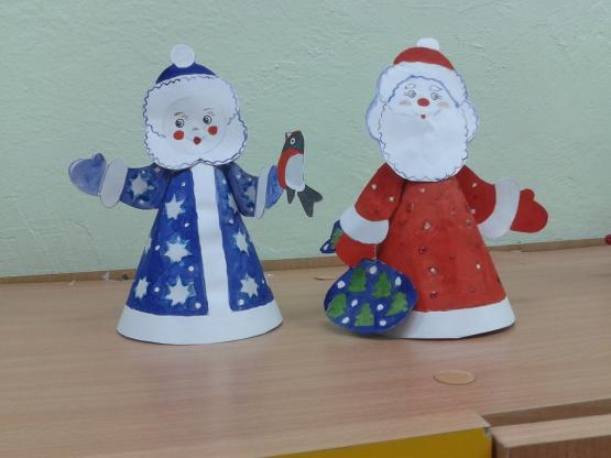 Дед мороз своими руками на конусе