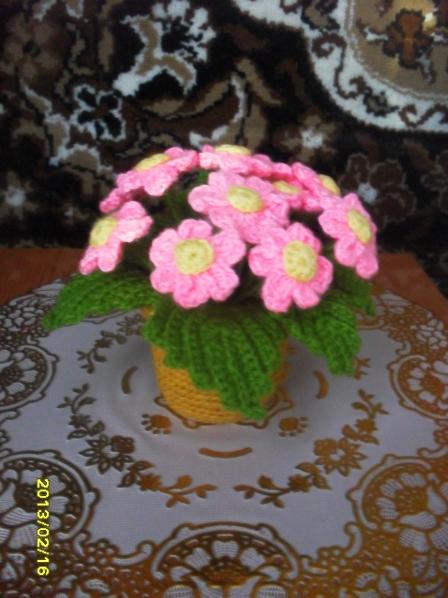 Вязаные крючком цветы в