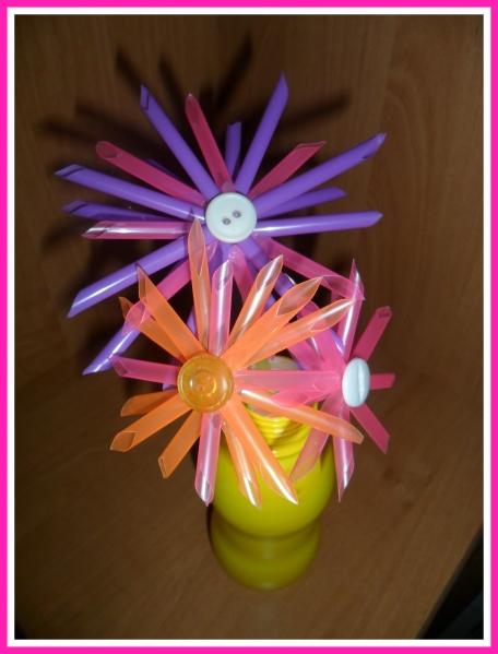 Поделка из бросового материала своими руками цветы