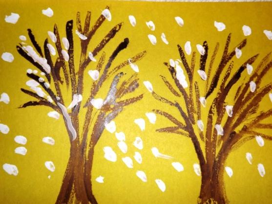 Рисование: «Деревья зимой»