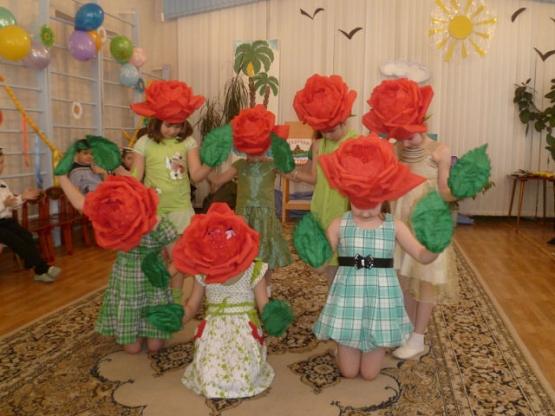Шапочки цветов своими руками
