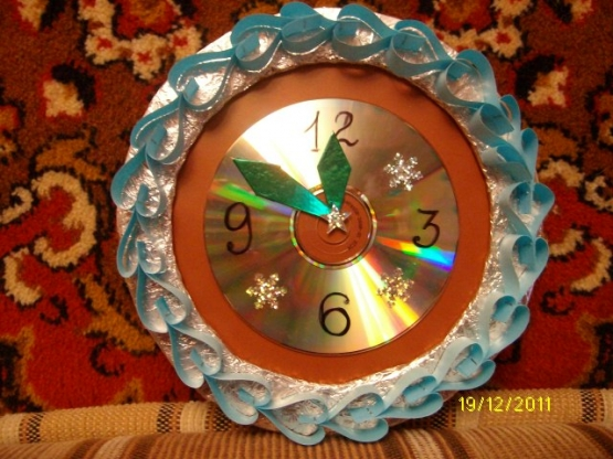 Как сделать поделку часы на новый год фото 704