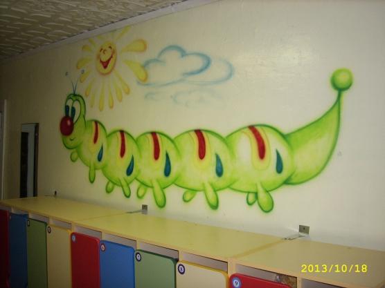 Картинки днем, рисунок на шкафы в приемной детского сада