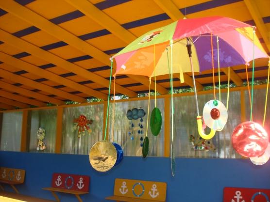 Поделки из дисков на веранду в детском саду 95