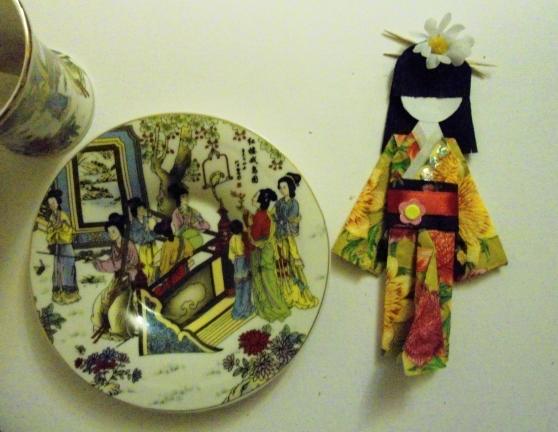 Бумажная куколка «Японочка»