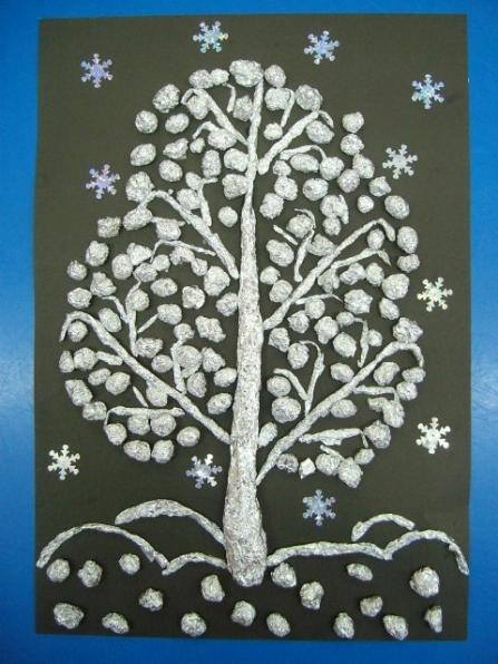 Поделка дерево из фольги