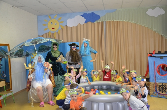 Костюм ко дню нептуна для детей
