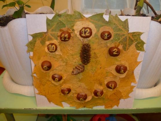 Часы из природного материала своими руками на тему осень 40