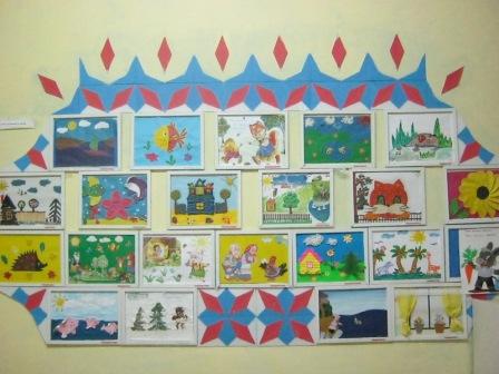 Оформление выставки детских работ своими руками