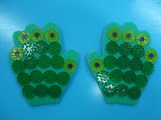 Массажная варежка для детского сада своими руками 99