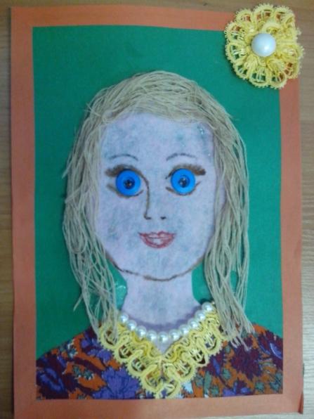 Портрет мамы своими руками из ниток - Zerli.ru