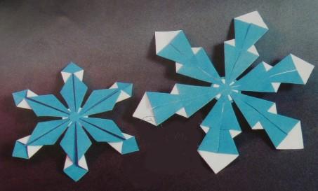 Оригами снежинки своими руками фото