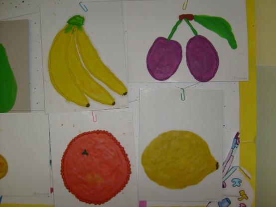 Поделка для малышей овощи и фрукты