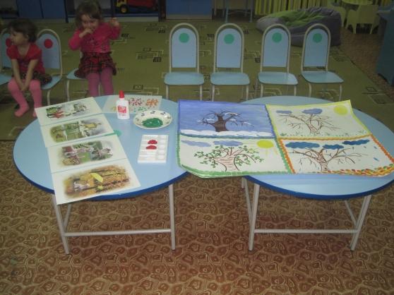 Организация совместной деятельности педагога с детьми в 1 мл. группе. Тема: «Времена года»