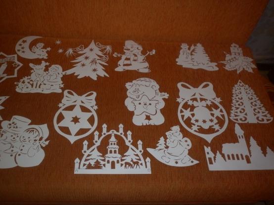 Новогодние украшения вырезать из бумаги своими руками