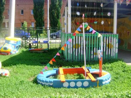 Оформление детского участка в детском саду своими руками летом фото