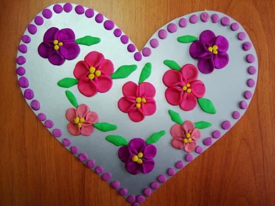 Открытка для мамы сердечко с цветами, сентября для
