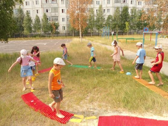 Тропа здоровья для детского сада своими руками фото 45