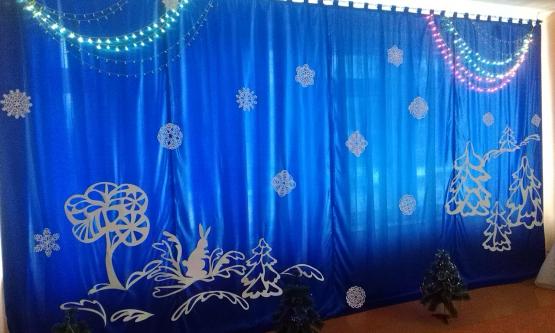 Как оформить зал на новый год