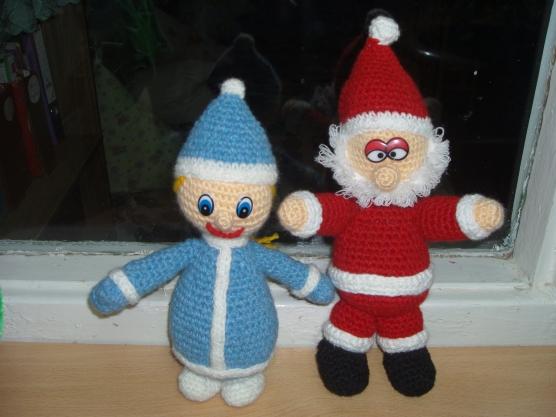 Новогодние деда мороза и снегурочки фото